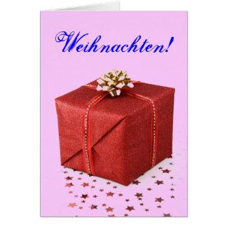 Weihnachtsgeschenke Weihnachten Rot I Grußkarte