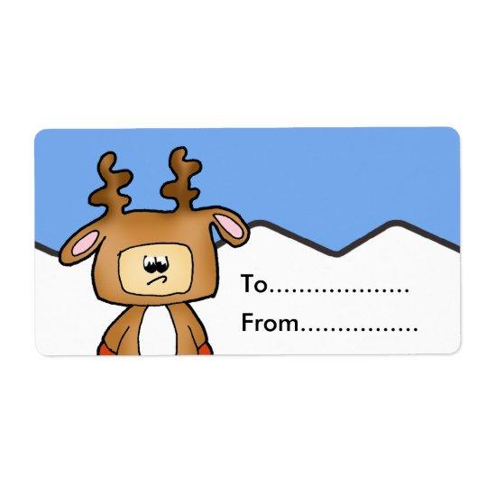 Weihnachtsgeschenkumbau Großer Adressaufkleber