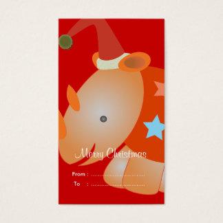 Weihnachtsgeschenkumbauten: Nashorn Visitenkarte
