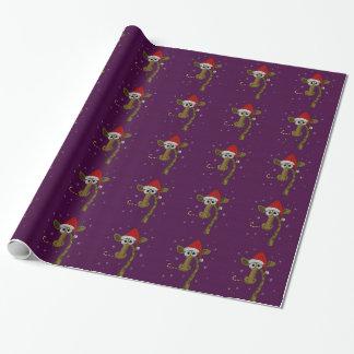 Weihnachtsgiraffe Geschenkpapier
