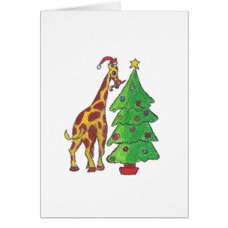 Weihnachtsgiraffe Karte