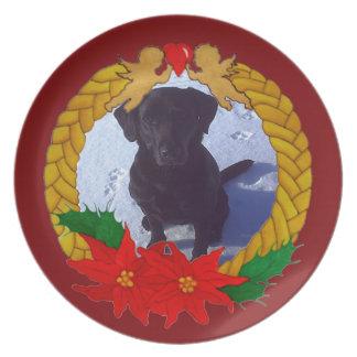 Weihnachtsgirlanden-Foto-Schablonen-Platte Teller