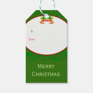 Weihnachtsglocken frohe Weihnachten Geschenkanhänger