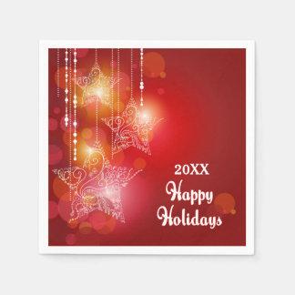 Weihnachtsglühen-hängende Sterne Papierservietten