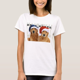 Weihnachtsgoldenes T-Shirt