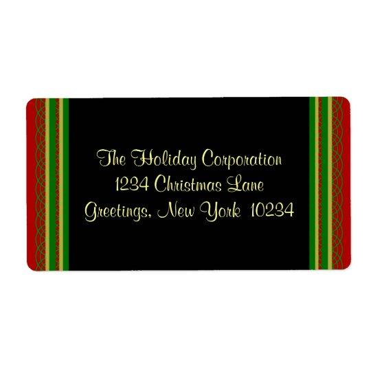 Weihnachtsgrenzadressen-Etiketten