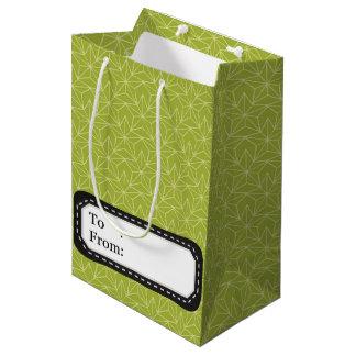 Weihnachtsgrüne Sternchen-Vereinbarung Medium Geschenktüte