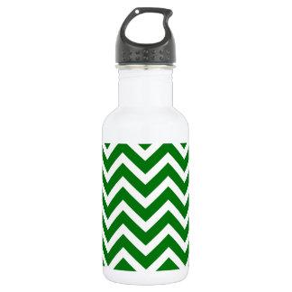 Weihnachtsgrüner und weißer Zickzack Zickzack Edelstahlflasche