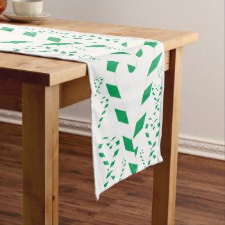 Weihnachtsgrüner Zuckerstange-Tabellen-Läufer Kurzer Tischläufer