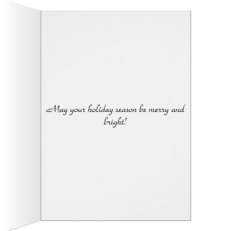 Weihnachtsgruß-Feiertagskarte Grußkarte