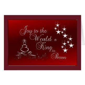 Weihnachtsgruß-Karte/Freude zur Welt Karte