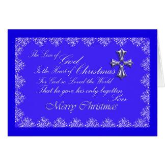 Weihnachtsgruß-Karte/Kreuz-Blaues Karte