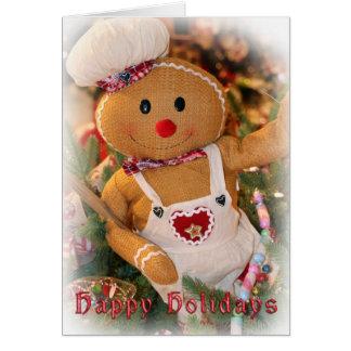 Weihnachtsgruß-Karte/Lebkuchen-Mann Karte