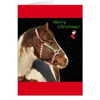 Weihnachtsgruß-Karte mit Pferd Grußkarte