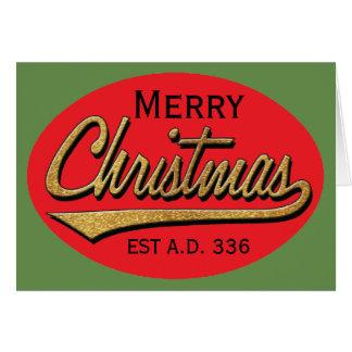 """Weihnachtsgruß-Karte/Umschlag """"Retro Weihnachten """" Karte"""