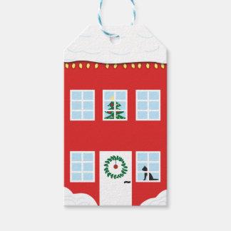 Weihnachtshaus-Geschenk-Umbau Geschenkanhänger