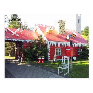 Weihnachtshaus nahe Akureyri, Island Postkarte
