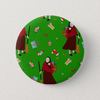 Weihnachtshexe Befana Runder Button 5,7 Cm