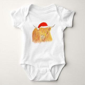 Weihnachtshochlandkuh-Babyweste Baby Strampler