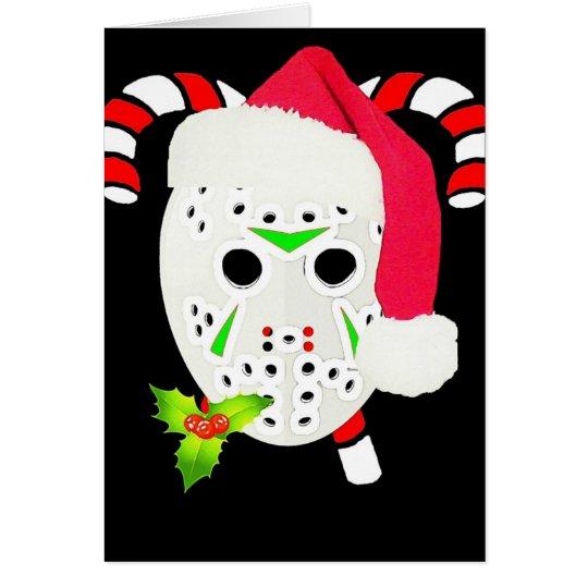 WeihnachtsHockey-Team Grußkarte