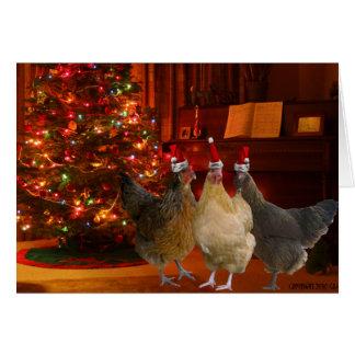 Weihnachtshühner Mitteilungskarte