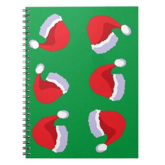 Weihnachtshüte Notizblock