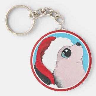 WeihnachtsIgels-Malerei Schlüsselanhänger