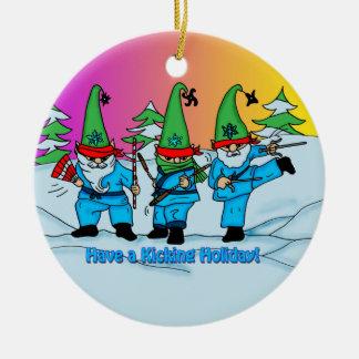 WeihnachtsKampfkunst-Elf-Verzierung Keramik Ornament