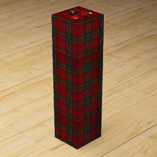 Weihnachtskarierte Poinsettia Wein-Geschenkverpackung