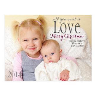 Weihnachtskarte - alle, die Sie benötigen, ist Postkarte