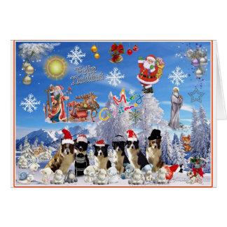 Weihnachtskarte Border Collie Karte