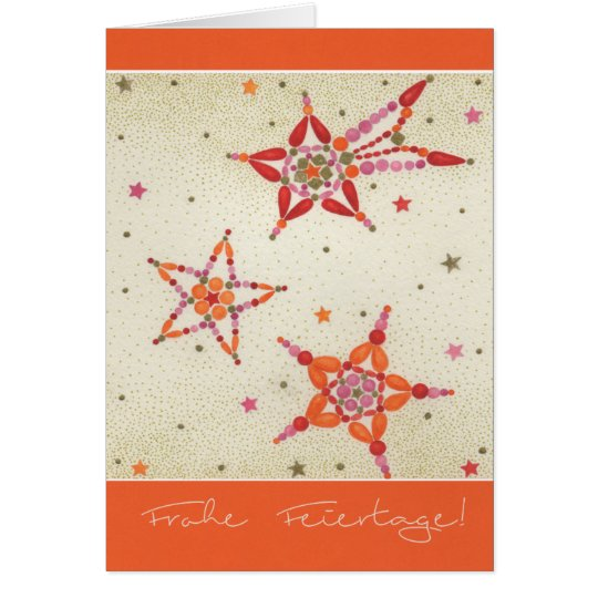 Weihnachtskarte Bunte Sterne Karte