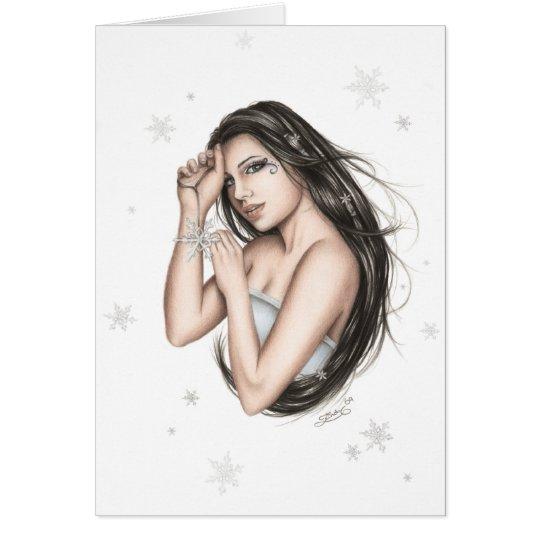 Weihnachtskarte Damen-Snowflake Grußkarte