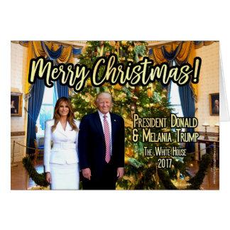 Weihnachtskarte das Haus-Melania Donald Trump Karte