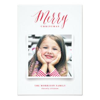 Weihnachtskarte des Foto-Album-| 12,7 X 17,8 Cm Einladungskarte