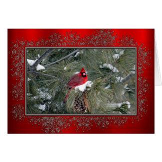 Weihnachtskarte des Kardinals-3093 Karte