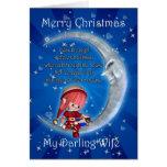 Weihnachtskarte, Ehefrau-Weihnachten, Snowman auf Grußkarten