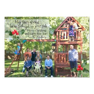 Weihnachtskarte - Engel durch Ihre Seite Karte
