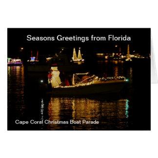 Weihnachtskarte - Frohe Festtage von Florida Karte