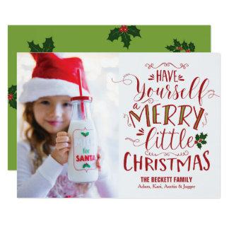 Weihnachtskarte - frohe wenig Weihnachten Karte