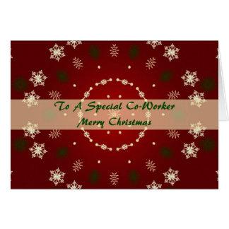 Weihnachtskarte für Mitarbeiter Karte