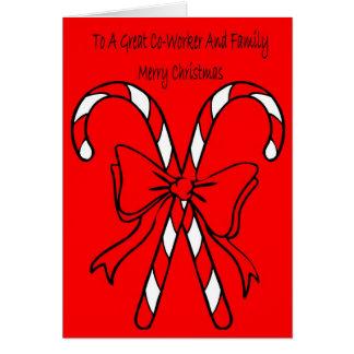 Weihnachtskarte für Mitarbeiter und Familie Karte