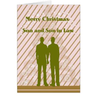 Weihnachtskarte für Sohn und Schwiegersohn Grußkarte