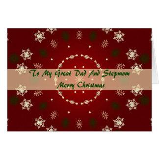 Weihnachtskarte für Vati und Stiefmutter Karte