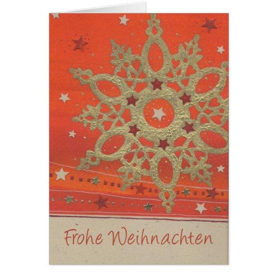 Weihnachtskarte  Goldener Stern Karte