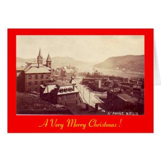 Weihnachtskarte, Johannes, Neufundland Karte