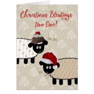 Weihnachtskarte - lustiges Schaf Karte
