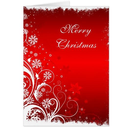 Weihnachtskarte mit dekorativem Blumenmuster Karte