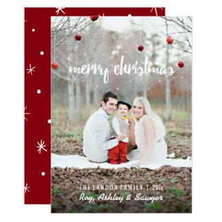 Weihnachtskarte mit Foto - frohe Weihnachten Karte
