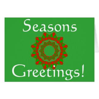 Weihnachtskarte mit Frohen Festtagen Karte